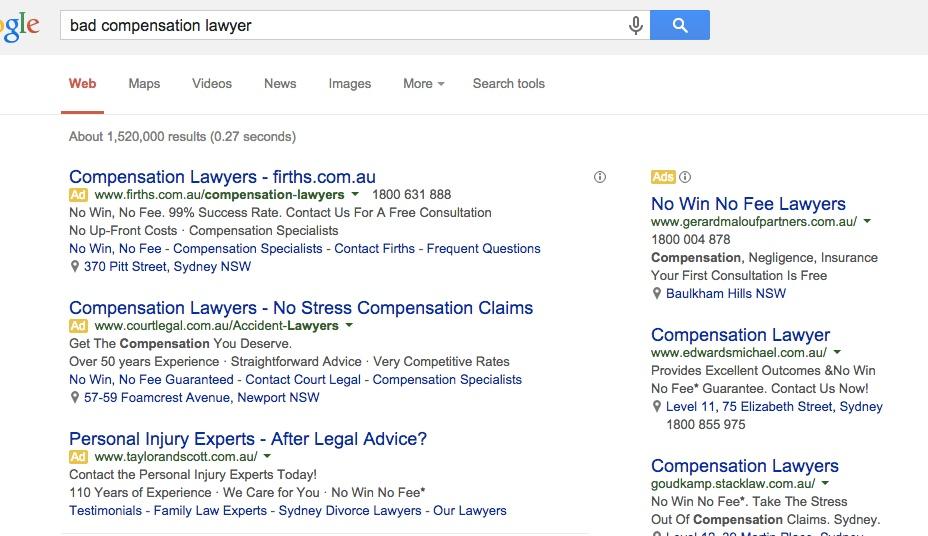 bad compensation lawyer