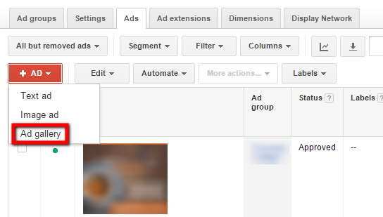 how to create display ads in adwords