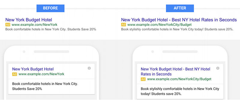 Google Ads Updates 2018 - Expanded Text Ads