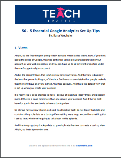 5 Essential Google Analytics Set Up Tips