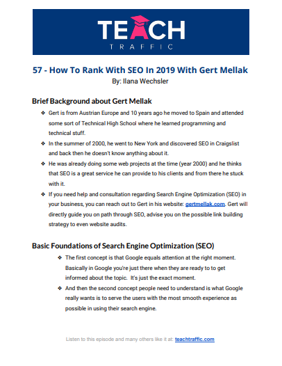 How To Rank With SEO In 2019 With Gert Mellak